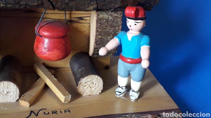 Juguetes antiguos: Bonita composición Rdo. de Nuria, Pagesos Catalanes, madera pintada a mano, Goula original años 60. - Foto 4 - 163747282