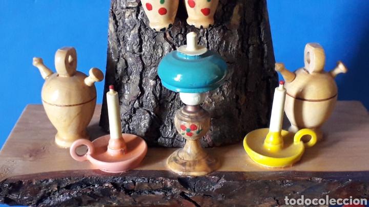 Juguetes antiguos: Bonita composición Rdo. de Nuria, Pagesos Catalanes, madera pintada a mano, Goula original años 60. - Foto 6 - 163747282