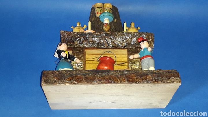 Juguetes antiguos: Bonita composición Rdo. de Nuria, Pagesos Catalanes, madera pintada a mano, Goula original años 60. - Foto 8 - 163747282