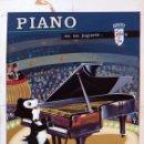 Juguetes antiguos: CARTEL PUBLICIDAD, CAJA JUGUETE PIANO SANTA ANA , PINTADO A MANO . ORIGINAL . Lote 164018586