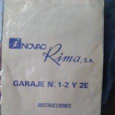 Juguetes antiguos: MANUAL DE INSTRUCCIONES DE LA ESTACIÓN DE SERVICIO RIMA AÑOS 60´S. Lote 165475418