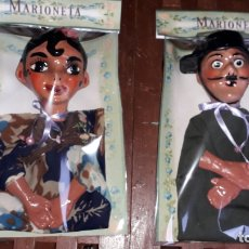 Juguetes antiguos: MARIONETAS CARTON PIEDRA ANTIGUAS, TITERES PAPEL MACHE, JUGUETE ANTIGUO,. Lote 165534034