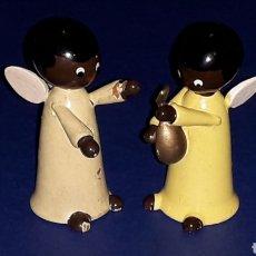 Juguetes antiguos: FIGURAS ÁNGELES ANGELITOS, MADERA GOULA MADE IN SPAIN, ORIGINAL AÑOS 60.. Lote 165799166
