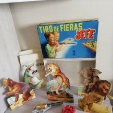 Juguetes antiguos: TIRO DE FIERAS JEFE DE SALUDES. COMPLETO, COLECCION PARTICULAR, SIN USO.. Lote 167438220