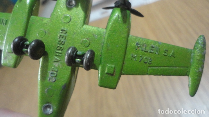 Juguetes antiguos: ANTIGUO AVION AVIONETA METALICA PILEN S.A 708 CESSNA 402 SPAIN. AÑOS 80? FOTO-CINE ESTUDIOS. - Foto 6 - 167660048