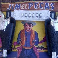 Juguetes antiguos: PANOPLIA DE JIM EL PECAS. MADEL AÑOS 60.. Lote 183660570