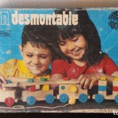 Juguetes antiguos: GOULA - TREN DESMONTABLE - ORIGINAL AÑOS 70´. Lote 168678584
