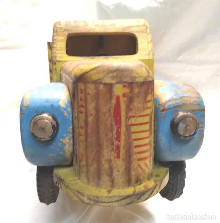 Juguetes antiguos: Camion madera policromada Denia años 40, modelo grande 64 cm - Foto 4 - 169711936