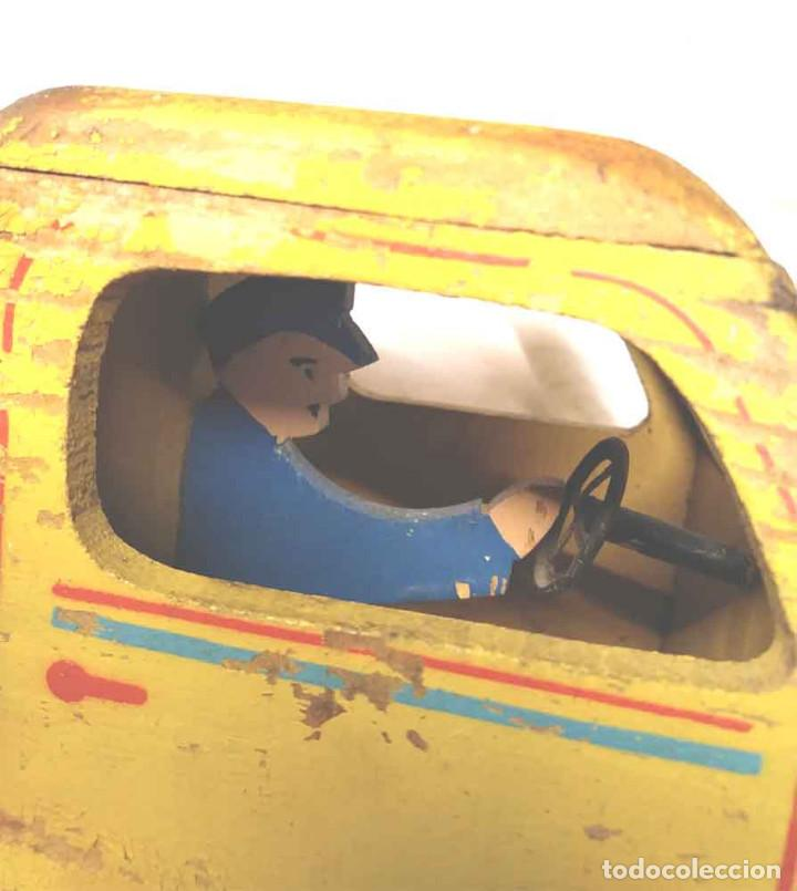 Juguetes antiguos: Camion madera policromada Denia años 40, modelo grande 64 cm - Foto 5 - 169711936