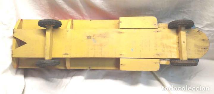 Juguetes antiguos: Camion madera policromada Denia años 40, modelo grande 64 cm - Foto 11 - 169711936