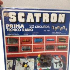 Juguetes antiguos: SCATRON . TÉCNICO RADIO. 20 CIRCUITOS. A ESTRENAR, DE JUGUETERÍA. PRECINTADO.. Lote 170548925