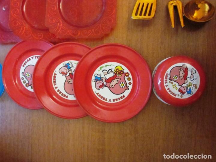 Juguetes antiguos: Antiguos accesorios de cocina, vajilla, cestas, platos... Pse y otras marcas - Foto 3 - 171104174