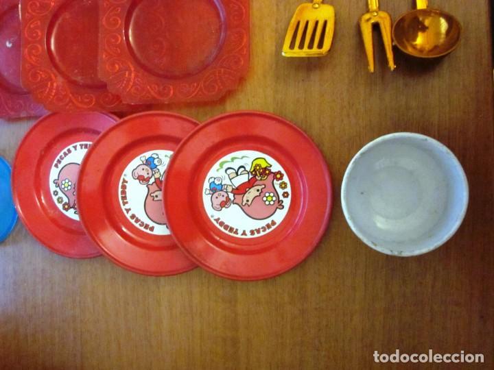 Juguetes antiguos: Antiguos accesorios de cocina, vajilla, cestas, platos... Pse y otras marcas - Foto 4 - 171104174