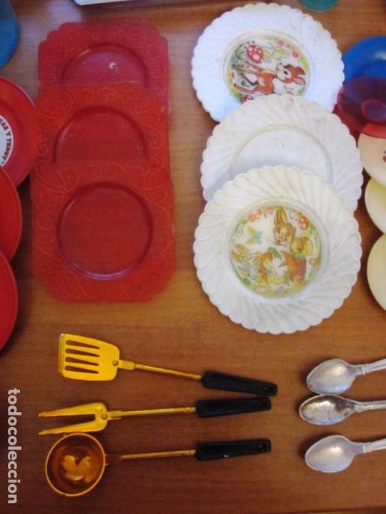 Juguetes antiguos: Antiguos accesorios de cocina, vajilla, cestas, platos... Pse y otras marcas - Foto 5 - 171104174