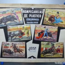 Juguetes antiguos: ROMPECABEZAS DE PLASTICO TAURINO TOROS, JEFE - PRUEBA DE IMPRENTA - AÑOS 1960-70. Lote 171654889