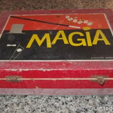 Juguetes antiguos: MAGIA BORRÁS,CAJA DE MADERA Y CARTÓN,VACÍA,FINALES AÑOS 50. Lote 173246629