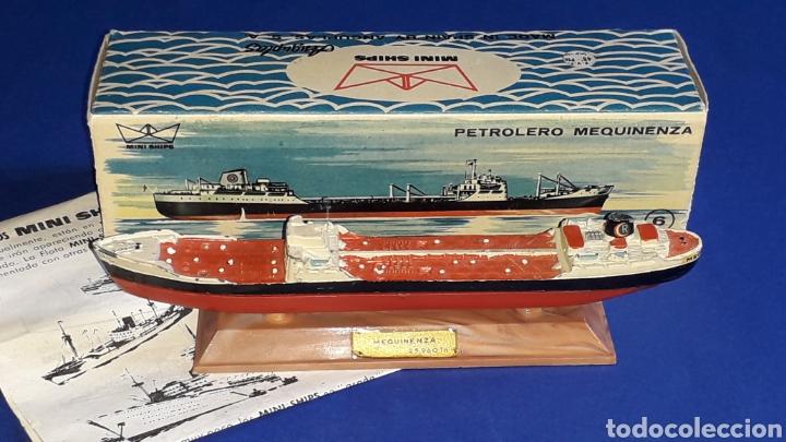Juguetes antiguos: Petrolero Mequinenza REPESA nº 6, esc. 1/1200, Anguplas Mini-Ships, original año 1961. - Foto 2 - 176213932
