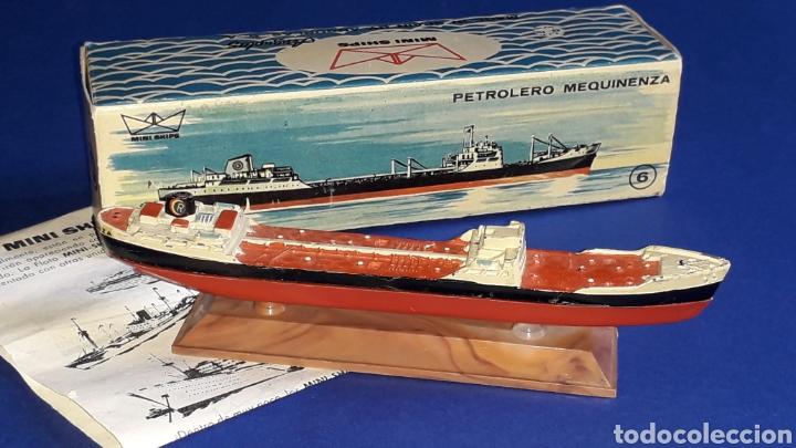 Juguetes antiguos: Petrolero Mequinenza REPESA nº 6, esc. 1/1200, Anguplas Mini-Ships, original año 1961. - Foto 3 - 176213932