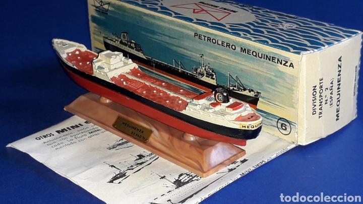 Juguetes antiguos: Petrolero Mequinenza REPESA nº 6, esc. 1/1200, Anguplas Mini-Ships, original año 1961. - Foto 4 - 176213932