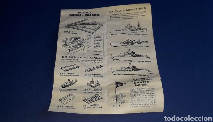 Juguetes antiguos: Petrolero Mequinenza REPESA nº 6, esc. 1/1200, Anguplas Mini-Ships, original año 1961. - Foto 5 - 176213932