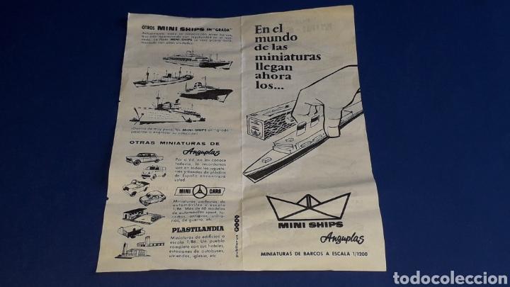 Juguetes antiguos: Petrolero Mequinenza REPESA nº 6, esc. 1/1200, Anguplas Mini-Ships, original año 1961. - Foto 6 - 176213932