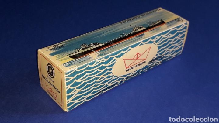Juguetes antiguos: Petrolero Mequinenza REPESA nº 6, esc. 1/1200, Anguplas Mini-Ships, original año 1961. - Foto 7 - 176213932
