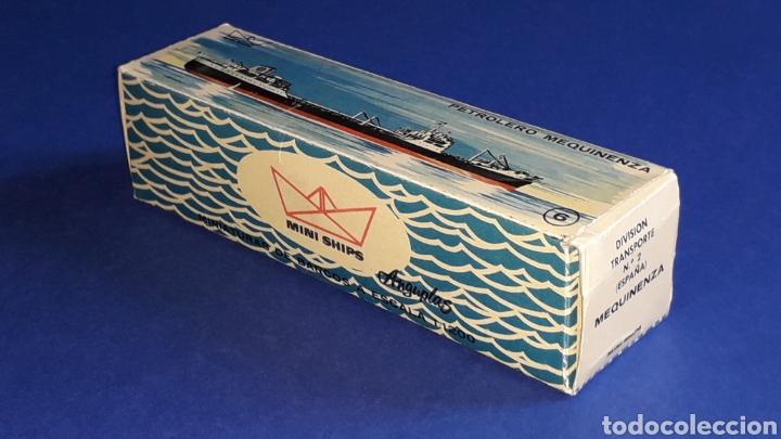 Juguetes antiguos: Petrolero Mequinenza REPESA nº 6, esc. 1/1200, Anguplas Mini-Ships, original año 1961. - Foto 8 - 176213932