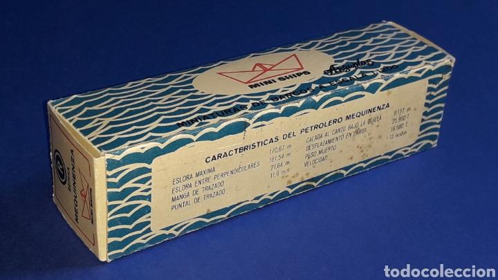 Juguetes antiguos: Petrolero Mequinenza REPESA nº 6, esc. 1/1200, Anguplas Mini-Ships, original año 1961. - Foto 9 - 176213932