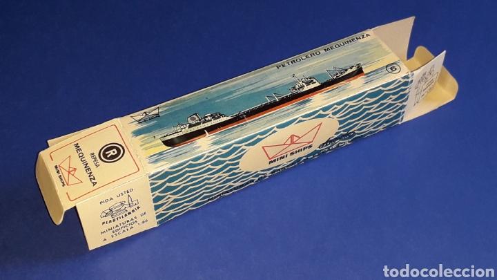 Juguetes antiguos: Petrolero Mequinenza REPESA nº 6, esc. 1/1200, Anguplas Mini-Ships, original año 1961. - Foto 10 - 176213932