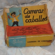 Juguetes antiguos: CARRERAS DE CABALLOS,BORLINO,CAJA ORIGINAL,FINALES AÑOS 50. Lote 177043635