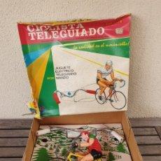 Juguetes antiguos: ANTIGUO CICLISTA ELECTRICO TELEGUIADO CON MANDO - MARCA RIMA - CON LA CAJA ORIGINAL - AÑOS 60 / 70 -. Lote 126573155