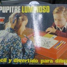 Juguetes antiguos: PUPITRE LUMINOSO DE PERMA REEXSA. Lote 179254113
