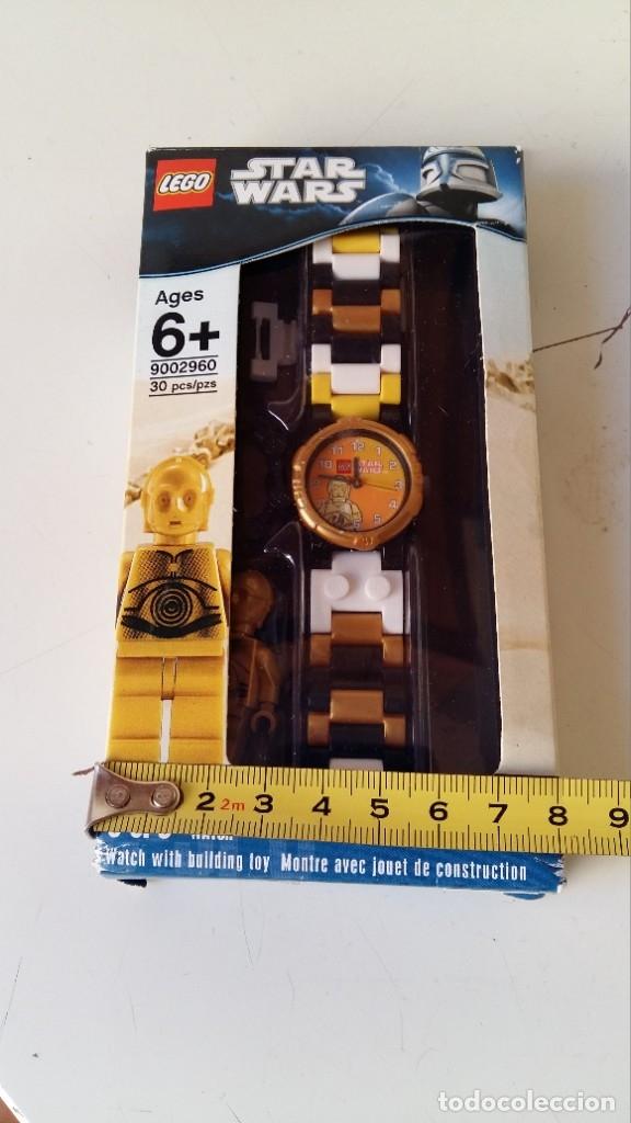 Juguetes antiguos: LEGO STAR WARS RELOJ PARA NIÑOS DESMONTABLE TRAE A 3PO EN MUÑECO LEGO VER FOTOS SIN USO - Foto 2 - 180208430