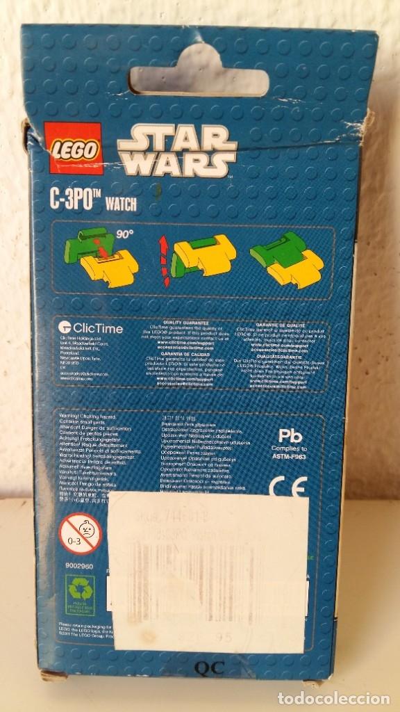 Juguetes antiguos: LEGO STAR WARS RELOJ PARA NIÑOS DESMONTABLE TRAE A 3PO EN MUÑECO LEGO VER FOTOS SIN USO - Foto 3 - 180208430