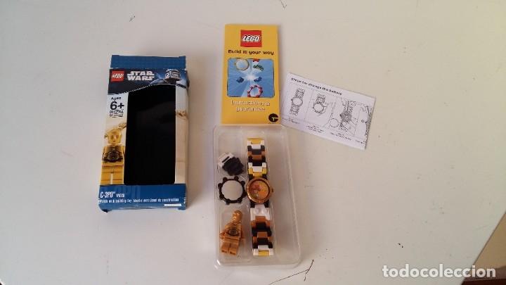 Juguetes antiguos: LEGO STAR WARS RELOJ PARA NIÑOS DESMONTABLE TRAE A 3PO EN MUÑECO LEGO VER FOTOS SIN USO - Foto 6 - 180208430
