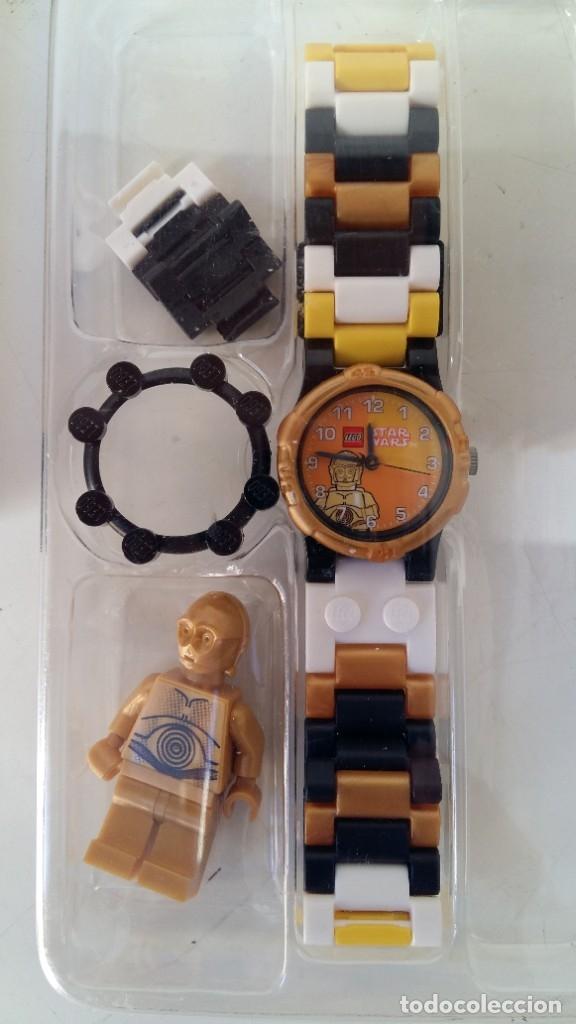 Juguetes antiguos: LEGO STAR WARS RELOJ PARA NIÑOS DESMONTABLE TRAE A 3PO EN MUÑECO LEGO VER FOTOS SIN USO - Foto 7 - 180208430