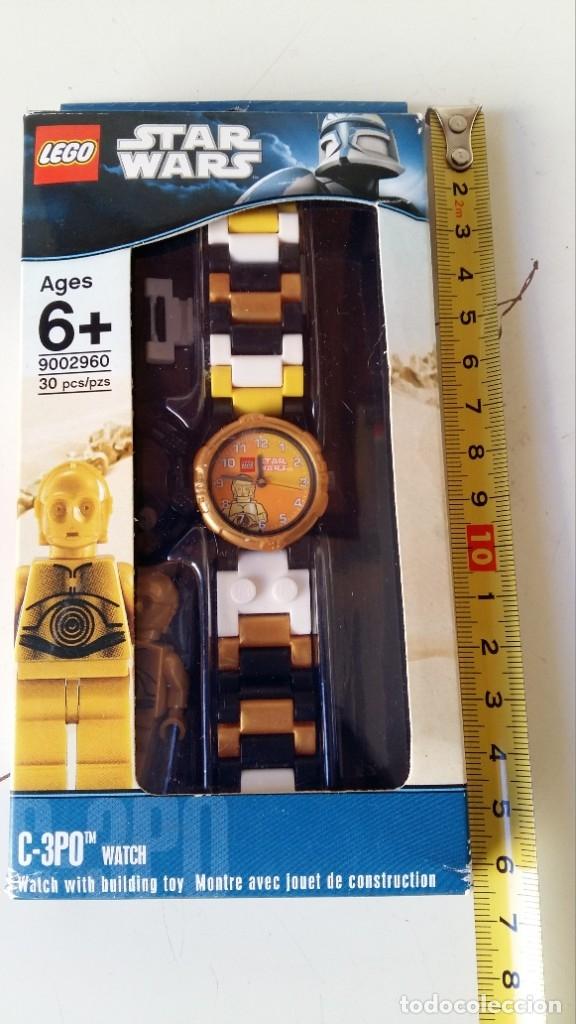 Juguetes antiguos: LEGO STAR WARS RELOJ PARA NIÑOS DESMONTABLE TRAE A 3PO EN MUÑECO LEGO VER FOTOS SIN USO - Foto 14 - 180208430