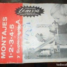 Juguetes antiguos: CATÁLOGO LEMSSA PARA LOS MONTAJES 1.2.3.4.5.Y SUPLEMENTO A 14 HOJAS MÁS TAPAS. Lote 182129133