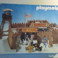 Juguetes antiguos: PLAYMOBIL FORT RANDALL HEADQUARTERS MODELO 3419 INCOMPLETO. Lote 182304668