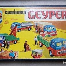 Juguetes antiguos: CAMIONES GEYPER. CAJA GRANDE. REF. 504. COMPLETO. Lote 182504847