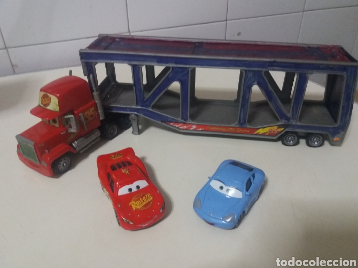 Juguetes antiguos: Lote Rayo Mcqueen Cars disney pixar Rust-eze Mattel antiguos - Foto 3 - 183529590