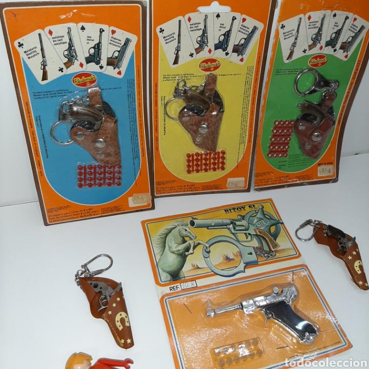 Juguetes antiguos: Buen lote pistolas en miniatura REDONDO Y BITOY - Foto 2 - 183740321