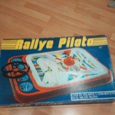 Juguetes antiguos: JUEGO RALLYE PILOTO, DE MAKO. AÑOS 80. Lote 183882656