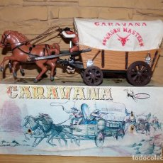 Juguetes antiguos: ANTIGUA CARAVANA DEL OESTE, DE VICMA - EN SU CAJA ORIGINAL - MUY BUEN ESTADO - AÑOS 60 / 70. Lote 184419442