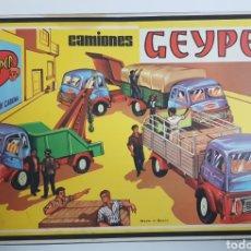 Juguetes antiguos: CAMIONES GEYPER 502 COMPLETO, SIN USO. Lote 185958567