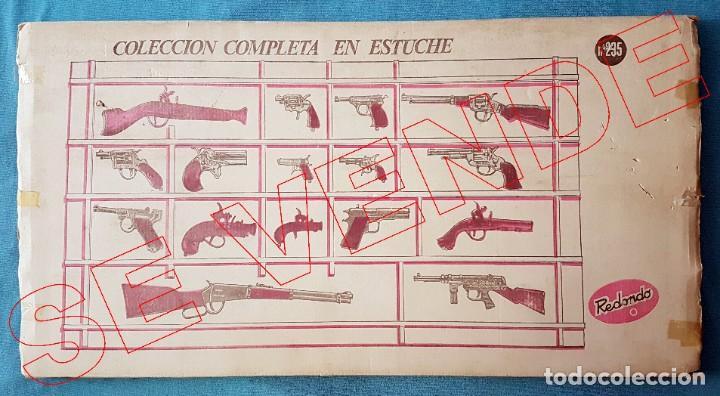Juguetes antiguos: Colección completa de pistolas detonadoras Redondo en expositor y caja original - Foto 3 - 186204241