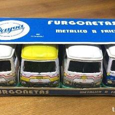 Juguetes antiguos: FURGONETAS METALICO A FRICCION - PAYVA. Lote 186355980