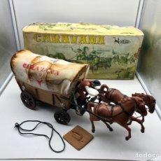 Juguetes antiguos: CARAVANA DEL OESTE. DE VICMA. CON CAJA ORIGINAL. Lote 186408633