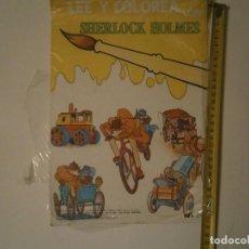 Giocattoli antichi: LEE Y COLOREA CON SHERLOCK HOMES¡¡SEMI NUEVO AÑOS 80. Lote 187196450