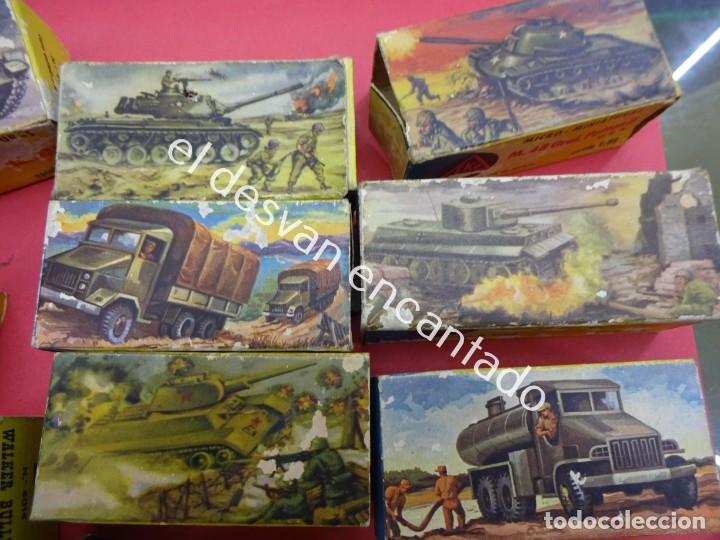 Juguetes antiguos: EKO. Gran lote de vehículos militares (muchos en caja original) y soldados de diversos países - Foto 4 - 188463581